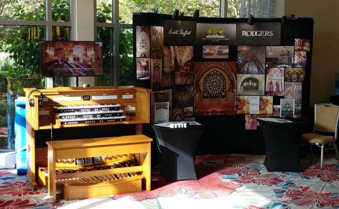 banner A Rodgers Inspire 343 was showcased at the Orlando Liturgical Conference.