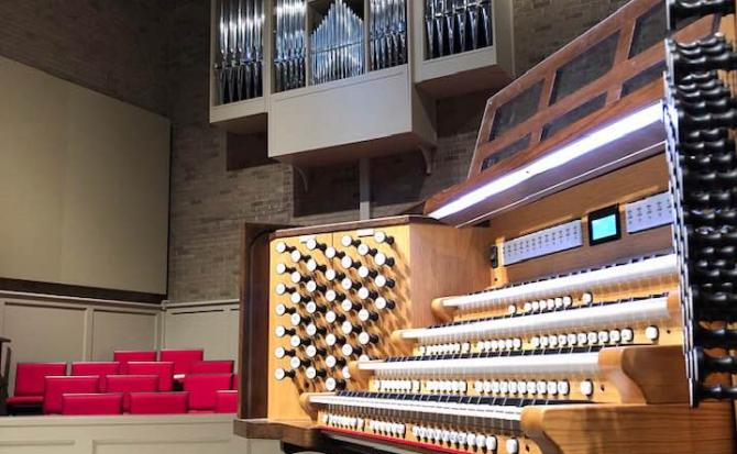 banner A stunning new hybrid organ for Christ The King Lutheran Church, Cary, NC!