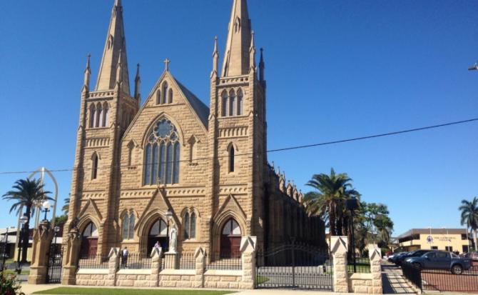 banner Infinity 243 for St. Joseph's Cathedral in Rockhampton, Australia.