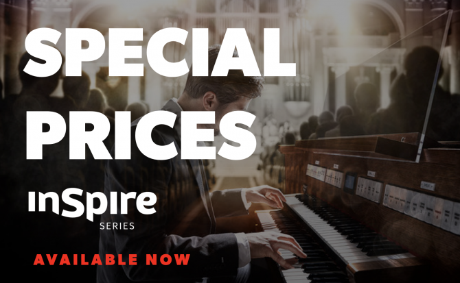 banner Special pricing and promotions for the Rodgers Inspire Series!